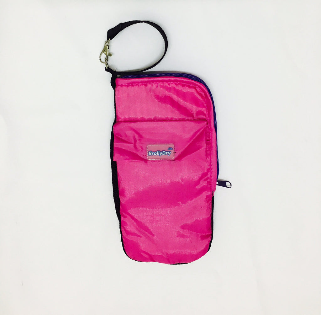 BrollyDry Folding Umbrella Case - New Colours - Hot Pink