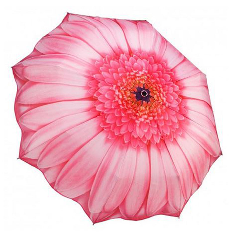 Galleria Floral Automatic Folding Umbrella - Pink Daisy
