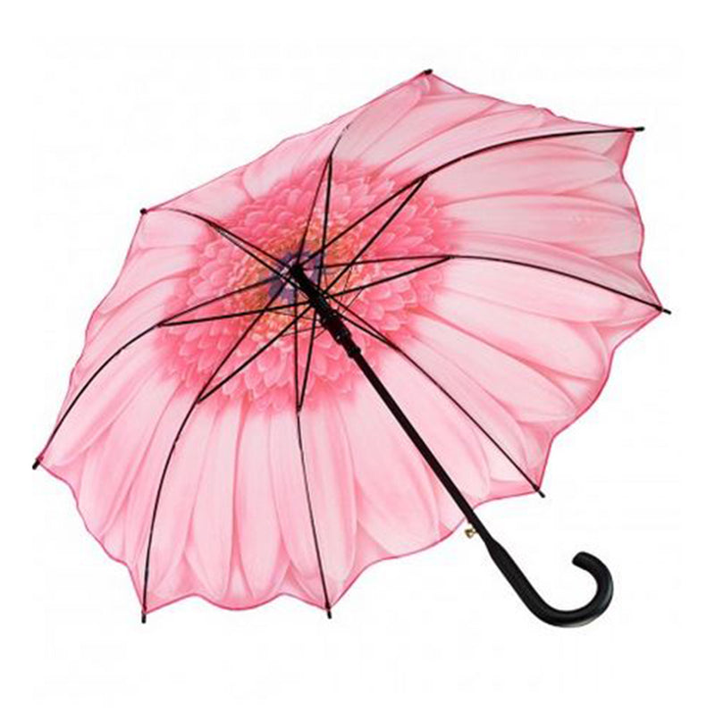 Galleria Floral Automatic Walking Umbrella -  Pink Daisy