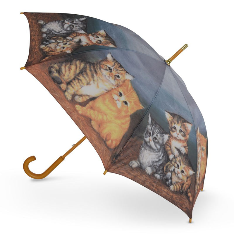 Cascada Collection New 'Playful Kittens' Ladies Walking Umbrella