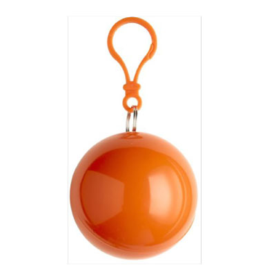 Volume Poncho in a Plastic Ball in Orange  - Available from 250 Pieces