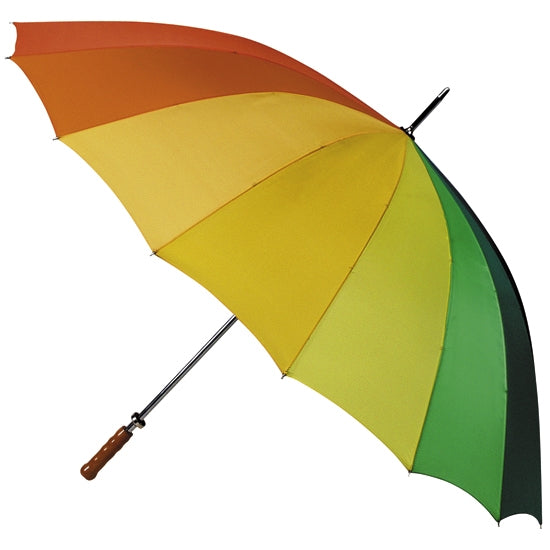 Budget Wood Handle Rainbow Golf Umbrella
