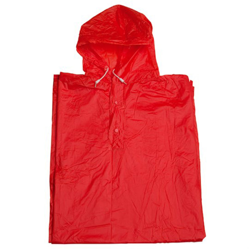 Unisex Raincoat / Poncho - Red   One Size