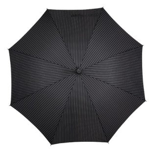 Exclusive Walking Stick Umbrella - Black Pinstripe