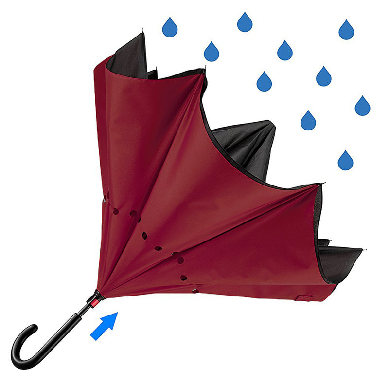 **NEW Revolutionary Umbrella Design**  The Reverse Umbrella - Burgundy