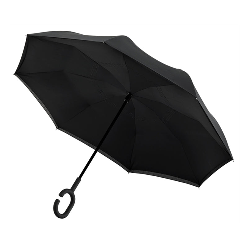 Revolutionary Upside Down Reverse Double Skin Umbrella - Black