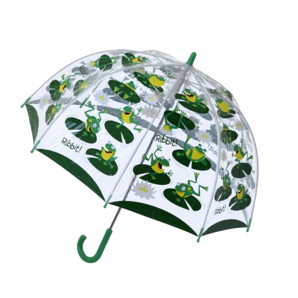 "Children's PVC Dome Frogs Umbrella by ""Bugzz"""