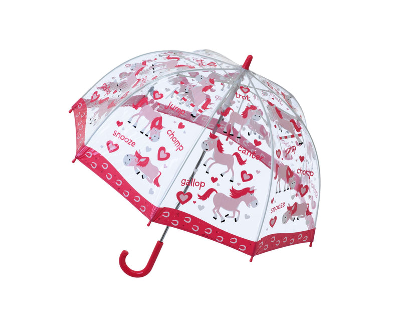"Children's PVC Dome Ponies Umbrella by ""Bugzz"""