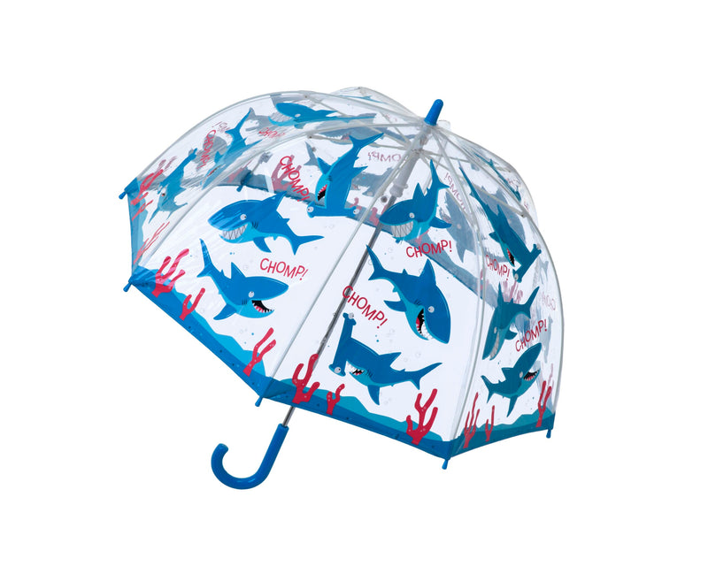 "Children's PVC Dome Shark Umbrella by ""Bugzz"""