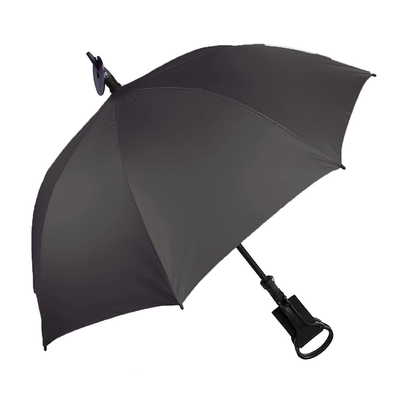 Shooting Stick 'Seat' Umbrella with Gunmetal Grey Canopy