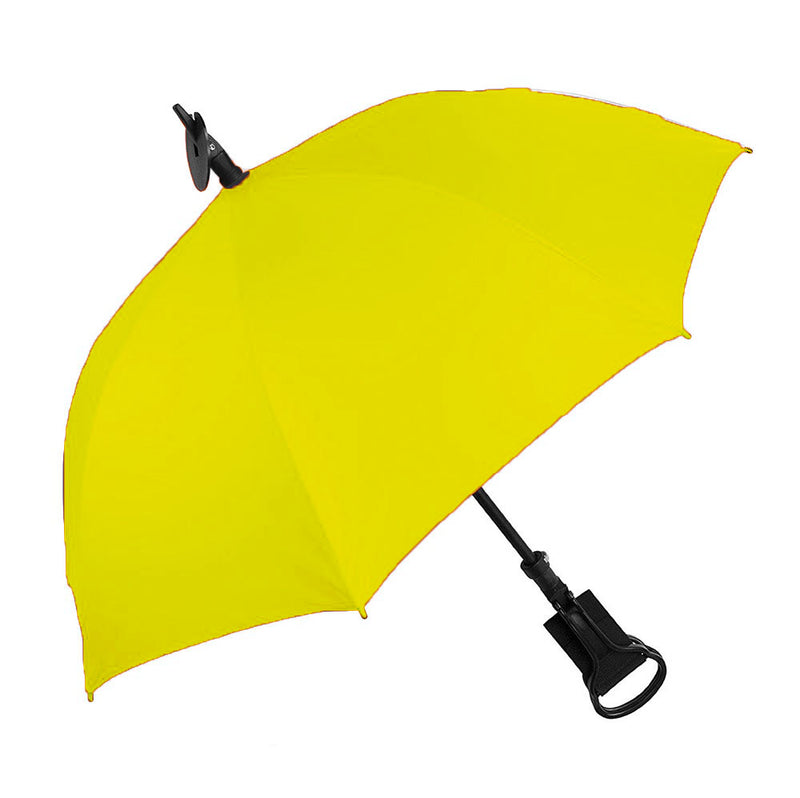 Shooting Stick 'Seat' Umbrella with Yellow Canopy