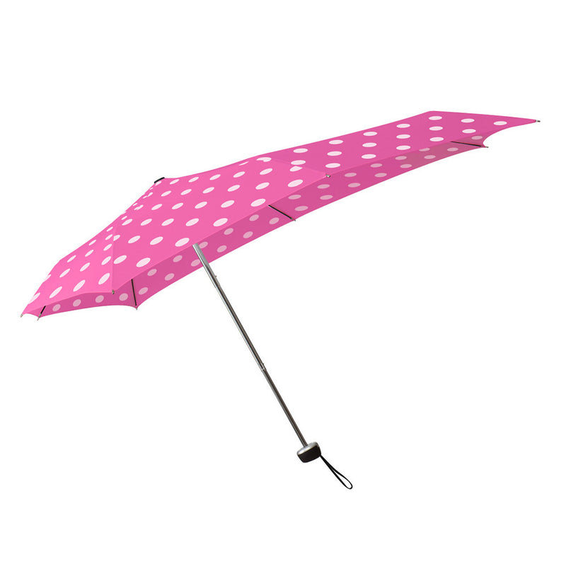 Senz Smart S Folding Umbrella in Bubbly Rose
