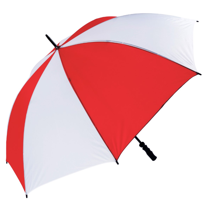 Red & White Fibrelite Wind Resistant Golf Umbrella
