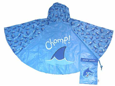 Bugzz Children's Waterproof Poncho - Shark