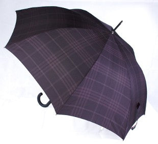 Bugatti Sport AC Auto Windproof Walking Umbrella - Black Check