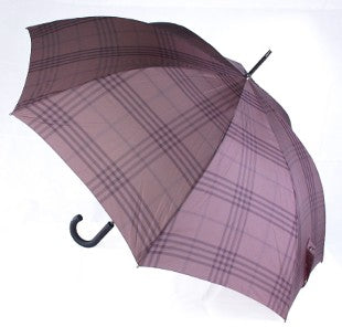 Bugatti Sport AC Auto Windproof Walking Umbrella - Grey Check