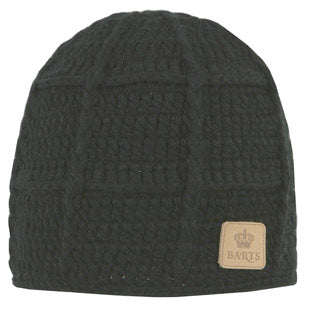 Barts Mens 'Square Beanie' Black Knitted Hat