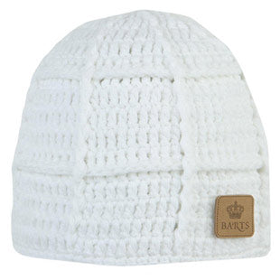 Barts  'Square Beanie' White Knitted Hat