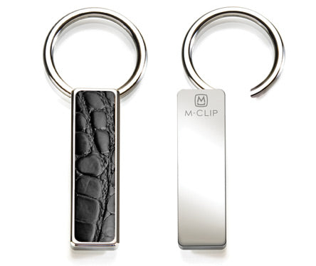 M Clip Black Alligator Key Ring