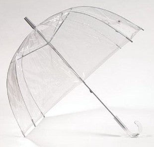 "Clear Dome ""The Star"" Umbrella with Sparkle Star Handle"