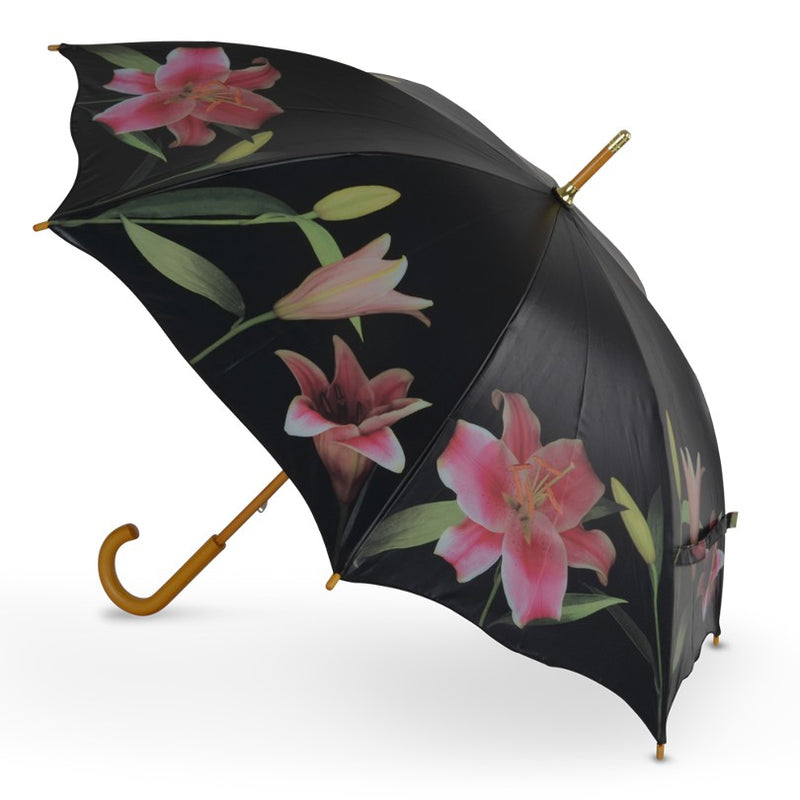 Cascada Collection Stargazer Lily Walking Umbrella