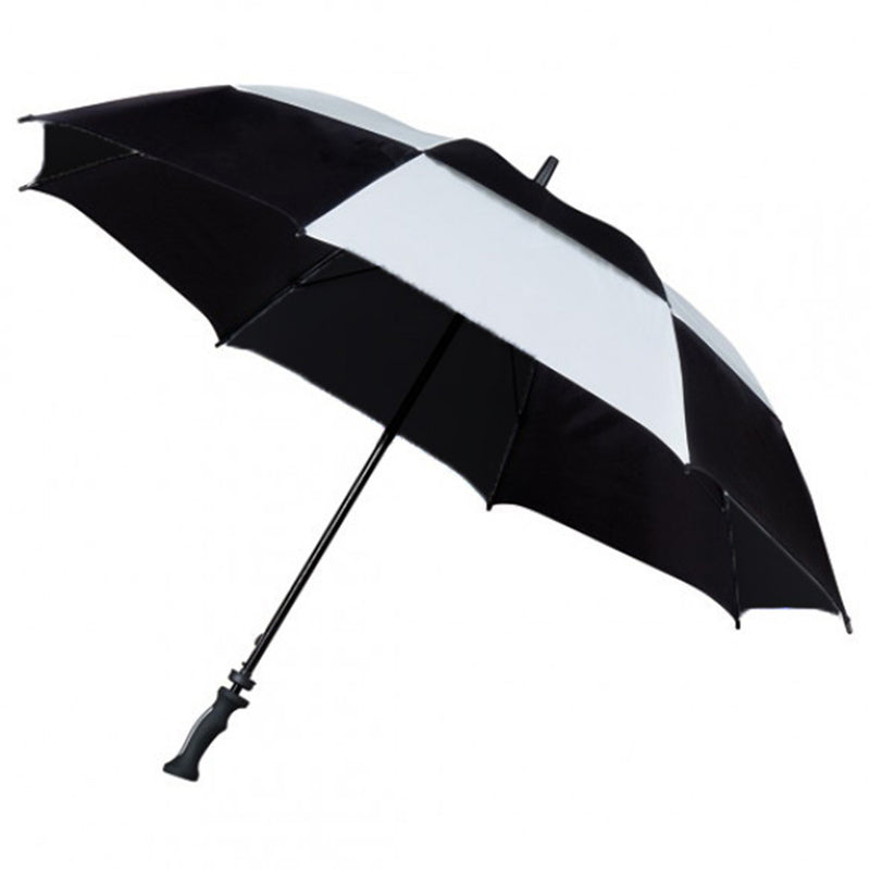 The Storm Vent Wind Resistant Golf Umbrella - Black & Silver