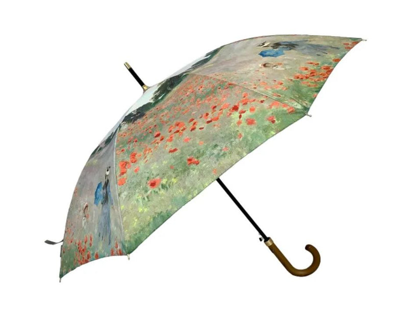 Storm King Auto Walking Artist Umbrella - Monet Poppy Field