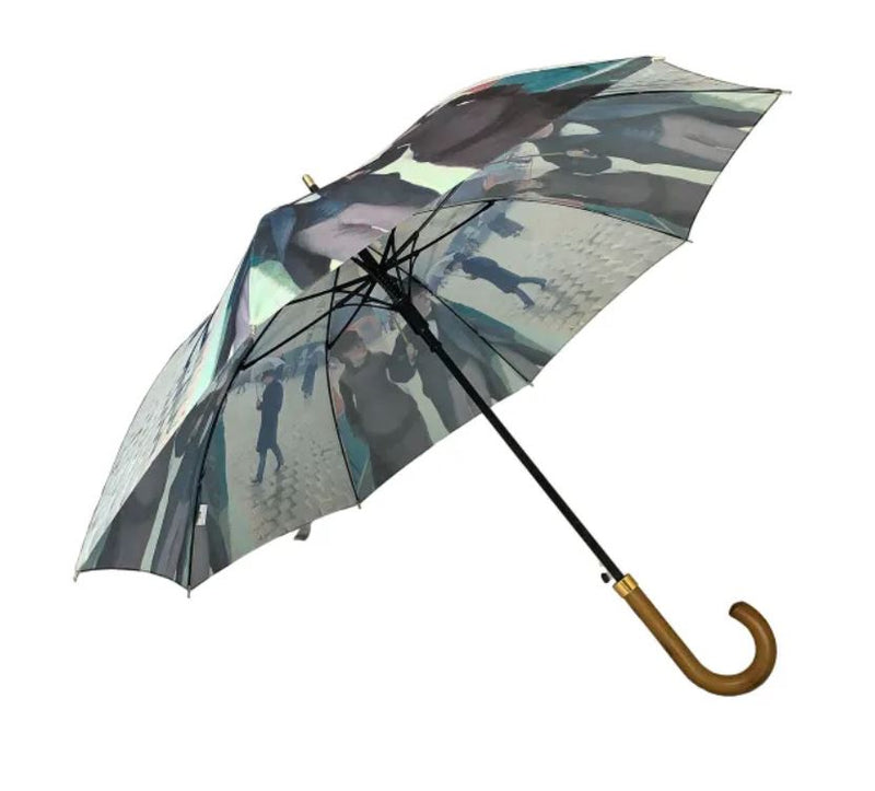 Storm King Auto Walking Artist Umbrella - Caillebotte Rainy Day In Paris