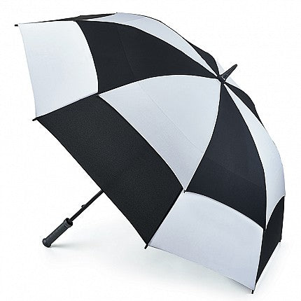 Fulton Stormshield Black / White Vented Golf Umbrella
