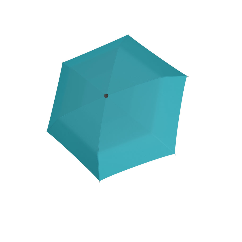 Carbon Steel Mini Slim Folding Umbrella - Summer Aqua