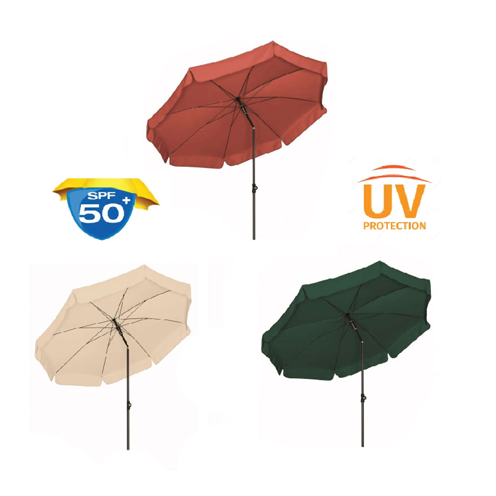 Doppler 'Sunline 3' 200 UV 50 + Protection 2 Metre Parasol - Anthracite