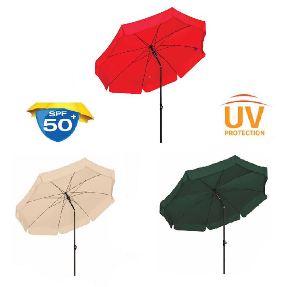 Doppler 'Sunline 3' 200 UV 50+ Protection 2 Metre Parasol - Dark Green