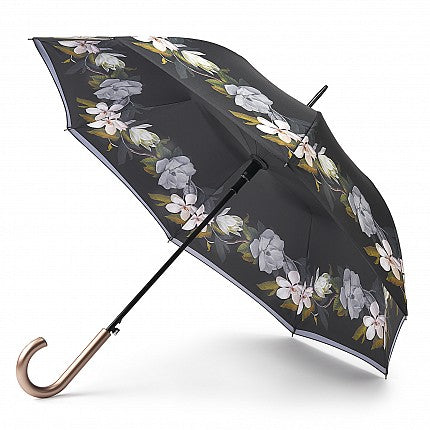Ted Baker by Fulton Bloomsbury Auto Walking Umbrella - Opal Border