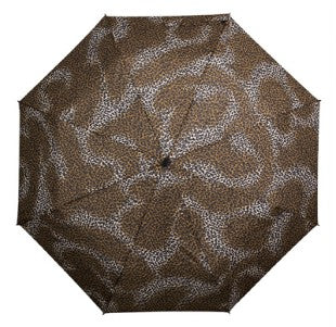MiniMax Supermini Folding Umbrella in Leopard Print