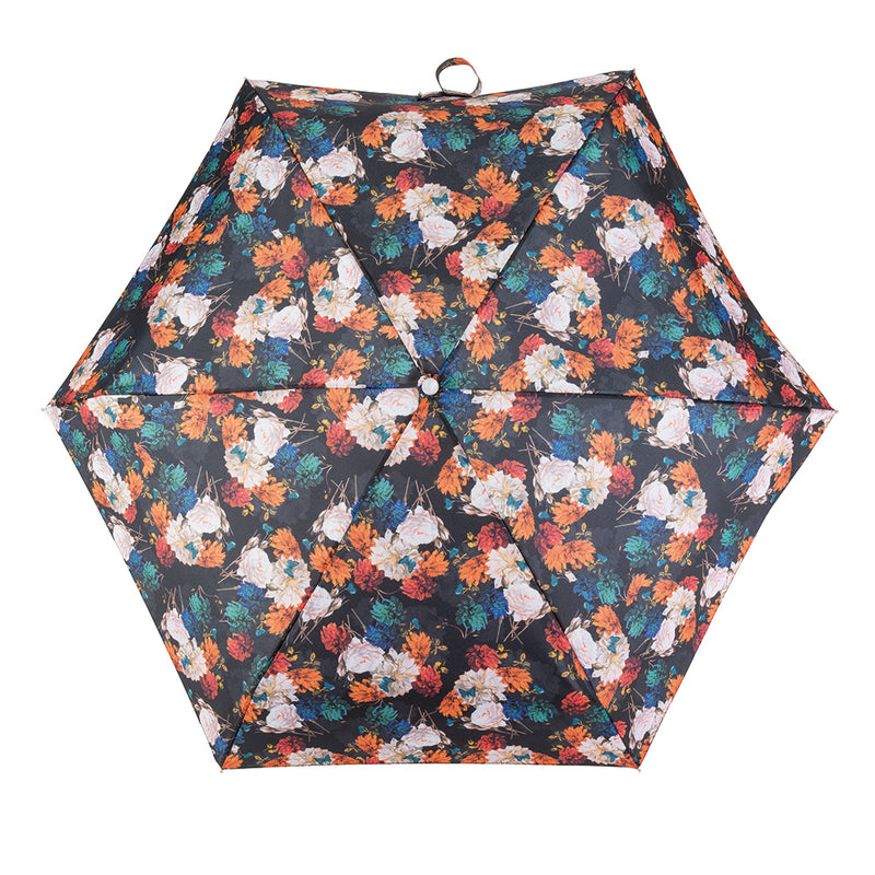 Totes Compact Round 5 Section Folding Umbrella - Photographic Floral