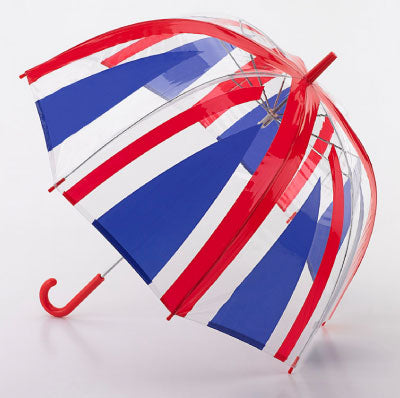 Union Jack  Auto Clear Dome Umbrella