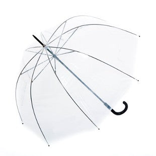 Clear Dome 'Clearview' Walking Umbrella with Black Handle