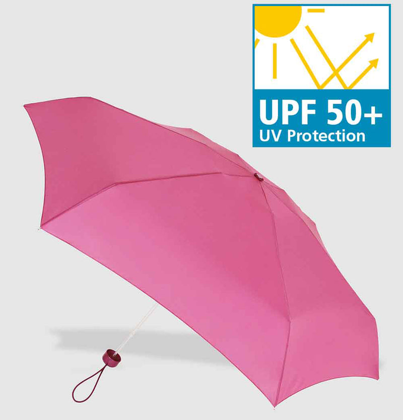 Vogue Tiny UV 50+ Protective Folding Umbrella - Hot Pink