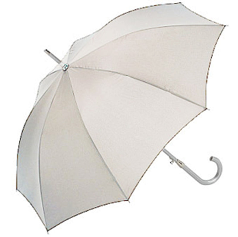 Aluminium Automatic Walking Umbrella - Silver/Red