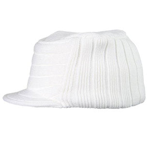 Barts Mens 'Patrol Beanie' White Fleece Lined Hat