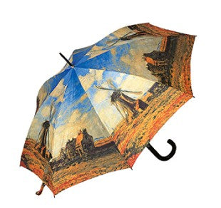 "Doppler Art Collection Monet ""Windmills"" Auto Walking Umbrella"