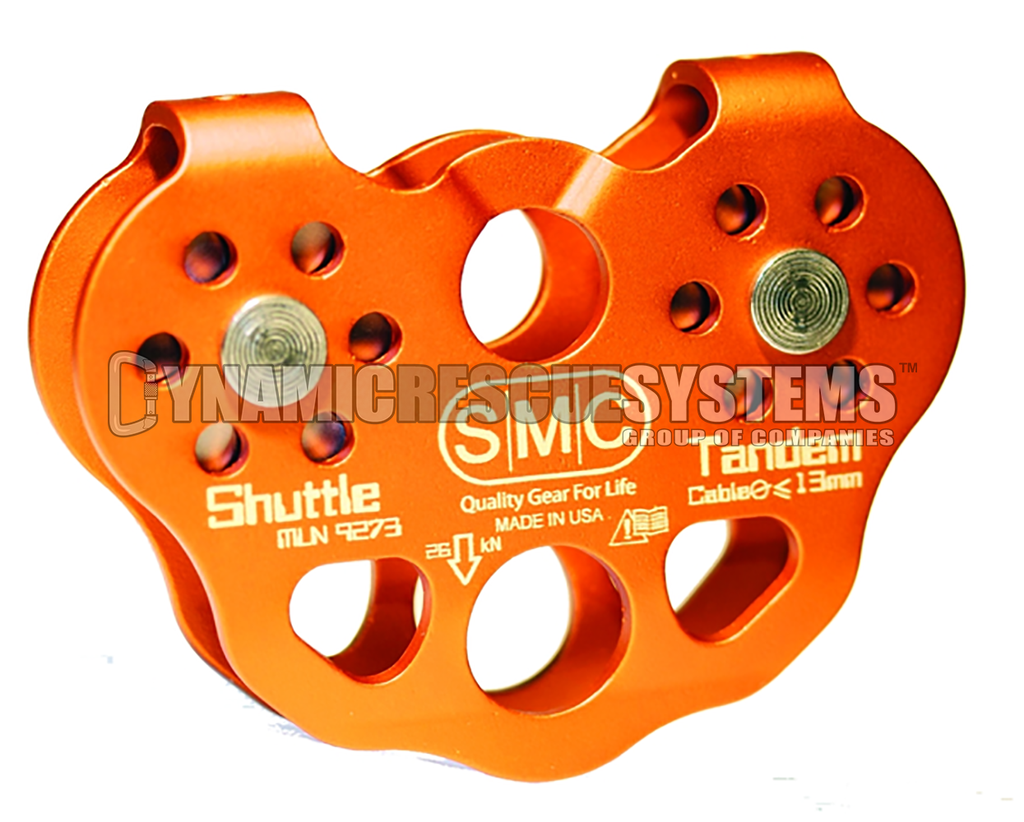 Shuttle Tandem Cable Pulley- SMC - SMC - Dynamic Rescue