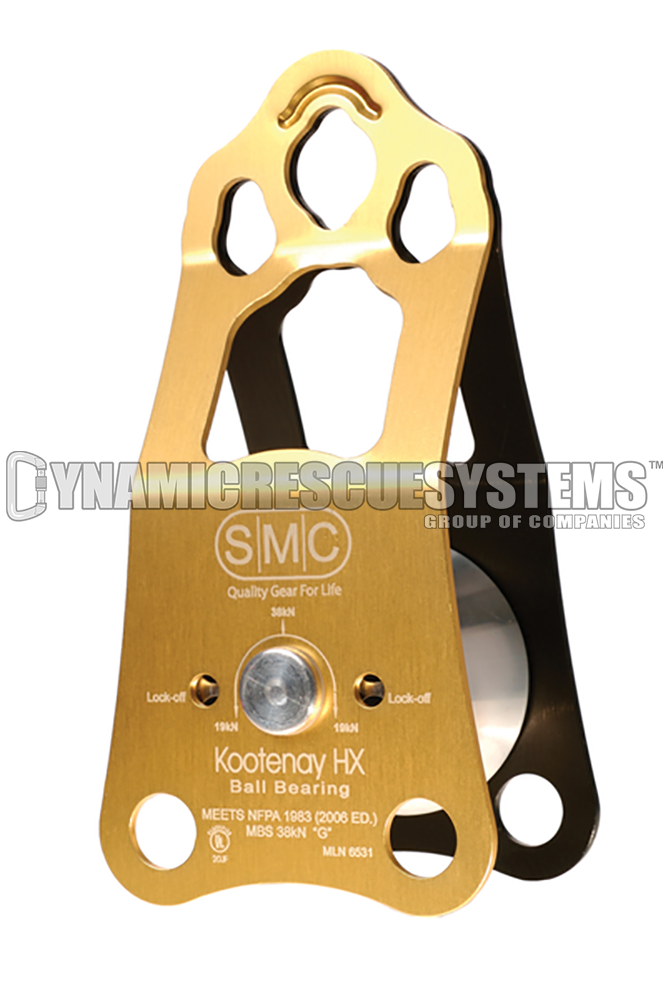 Kootenay HX, Knot Passing Pulley, Ball Bearing - NFPA, SMC - SMC - Dynamic Rescue