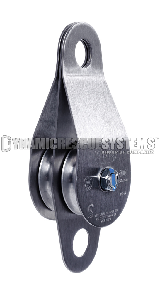 Double Stainless Steel Pulley - NFPA, SMC/RA - SMC - Dynamic Rescue - 1