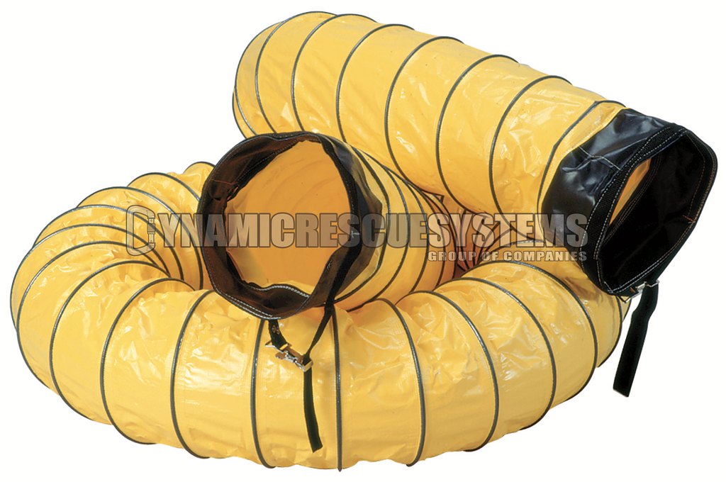 8 in. Ducting w/ cuffs, Yellow - Air Systems - Air Systems International - Dynamic Rescue - 1