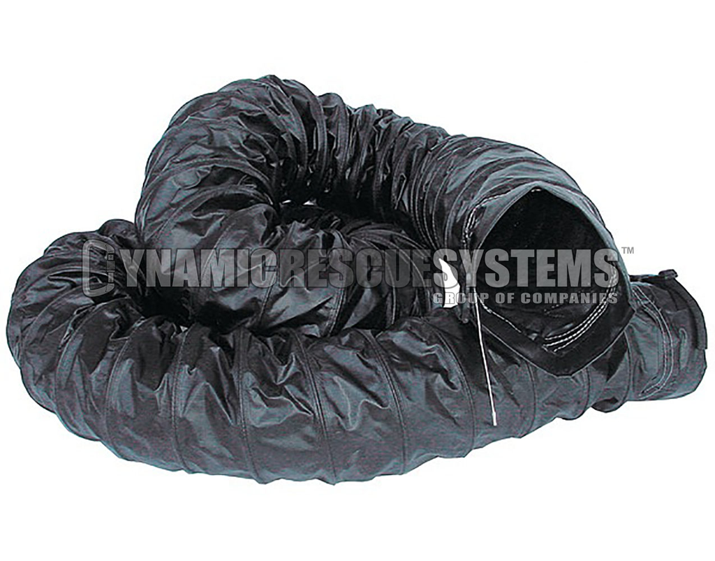 Explosion Proof 8 in. Ducting w/ cuffs, Black - Intrinsic, Air Systems - Air Systems International - Dynamic Rescue