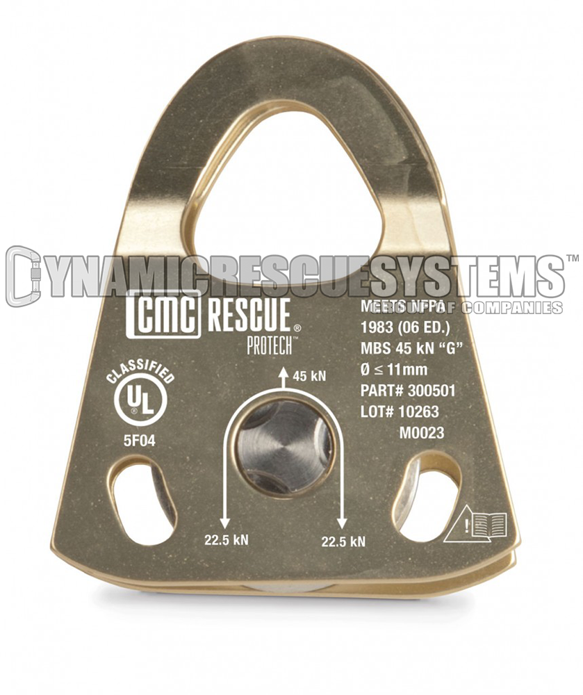 ProTech Double Pulley - NFPA, Sand, CMC - CMC - Dynamic Rescue