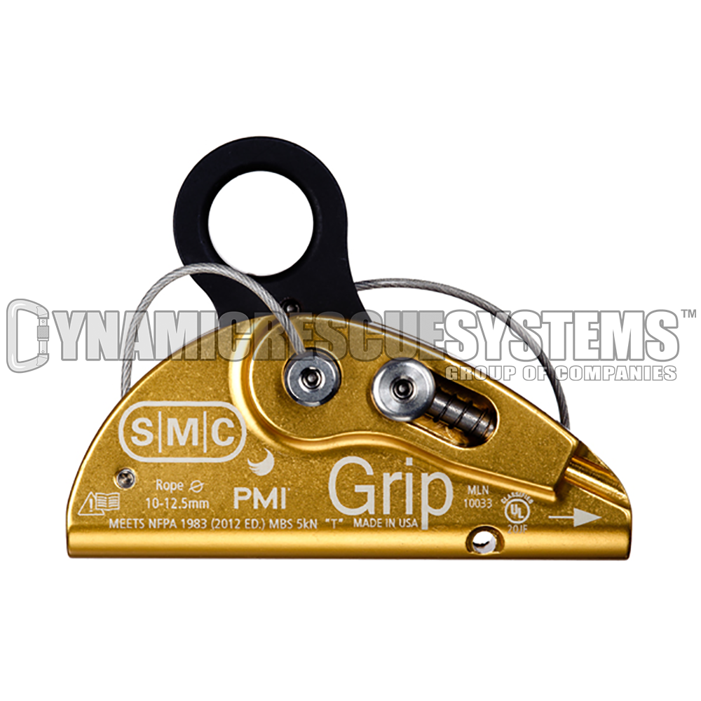 Grip Rope Grab - Gold, Anodized Aluminum, SMC/PMI - SMC - Dynamic Rescue