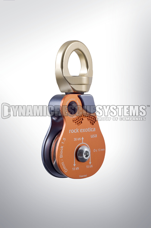 Omni-Block Swivel Pulley, Single - Rock Exotica - Rock Exotica - Dynamic Rescue - 1