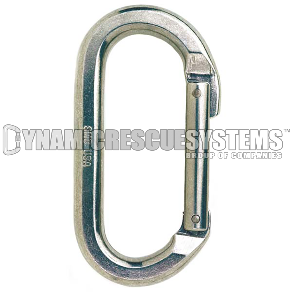 Oval Non-Locking Aluminum Carabiner - SMC - SMC - Dynamic Rescue - 1